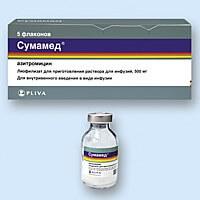 Дозировка Сумамеда при лечении воспалительных заболеваний