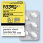 Флемоксин солютаб, общие сведения о препарате