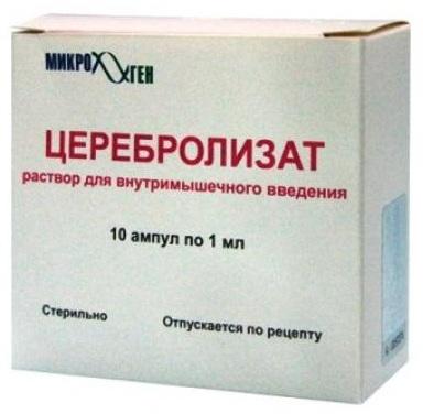 Инструкция Церебролизата об использовании в лечении головного мозга