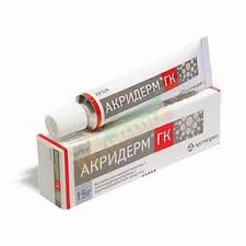 Акридерм крем-гормональное средство, применяемое для лечения хронических воспалительных процессов кожи