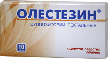 Олестезин – это ректальные свечи для снятия обострения и болей при геморрое