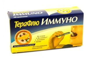 Терафлю Иммуно считается биологически активной добавкой, поэтому применять его следует строго по инструкции