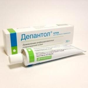 Мазь Депантол применяют для регенерации поврежденных кожных покровов