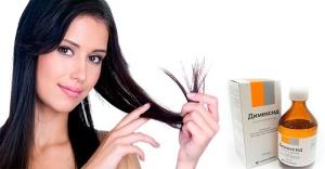 Для ускорения роста волос используют лечебные свойства препарата Димексид