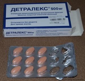 При лечении хронической формы геморроя рекомендуют Детралекс в форме таблеток