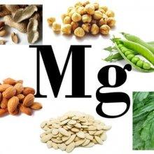 Магний в продуктах питания: таблица содержания вещества