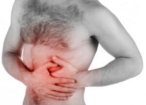 Основой симптом недуга - боли в области подреберья
