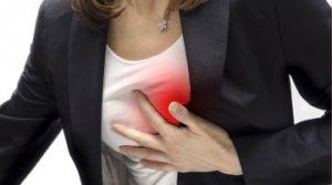 Основной симптом - боль в груди