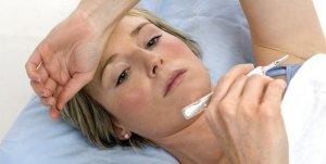 Повышенная температура - симптом обострения недуга