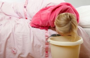 Приступ рвоты при желчнокаменной болезни