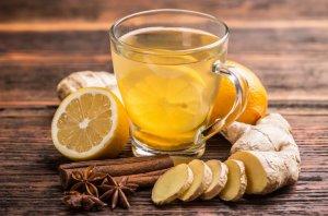 Целебный чай с имбирем