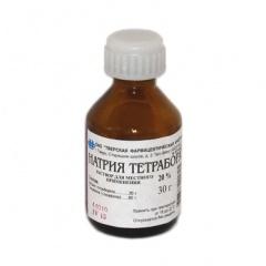 Натрия Тетраборат при молочнице