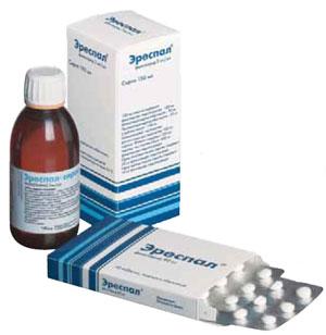 Таблетки и сироп Эреспал: полная инструкция по применению