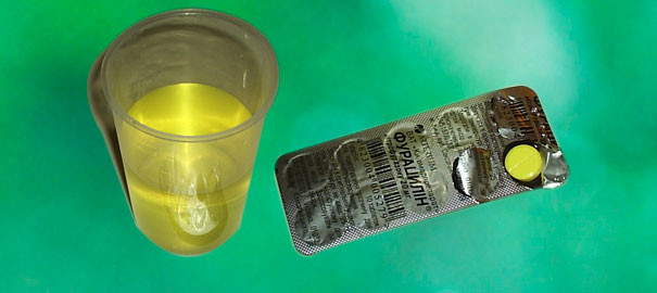 Как растворить Фурацилин в таблетках?