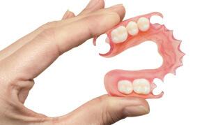 Съемные зубные протезы бывают полные и частичные