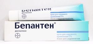 При лечении трещин сосков эффективным является мазь Бепантен
