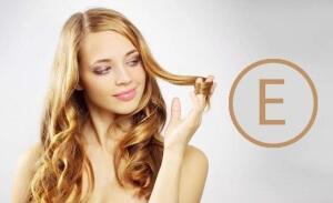 Витамин Е оказывает лечебное воздействие на волосы и кожные покровы