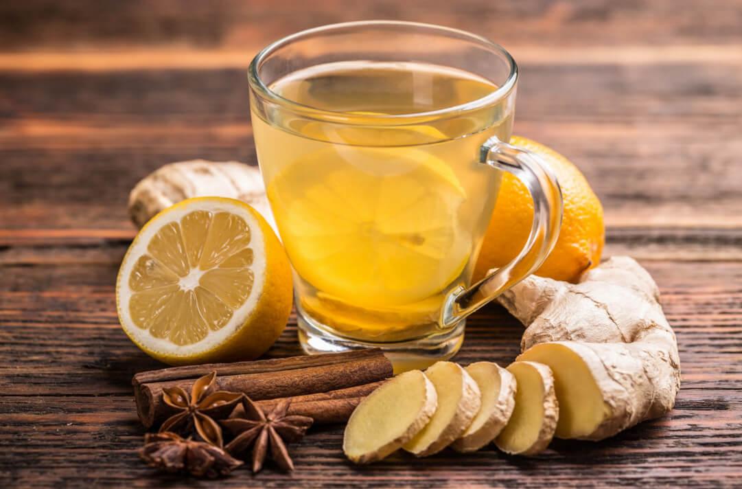 Чай с имбирем при простуде, основные рецепты