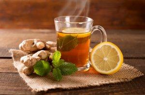 Чай из сушеного корня имбиря