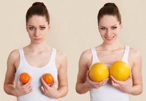 Увеличение маленькой груди